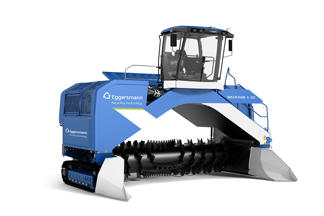 Rendering of a BACKHUS Triangular Windrow Turner